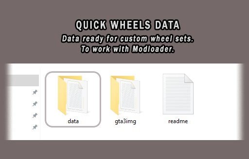 Quick Wheels Data