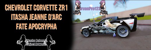 Chevrolet Corvette ZR1 Itasha Jeanne D'arc of Fate Apocrypha