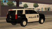 2015 Chevy Tahoe Area Police Department