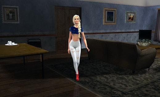 Skin Momiji Gta Sa: GTA San Andreas Sims Girl4 Mod