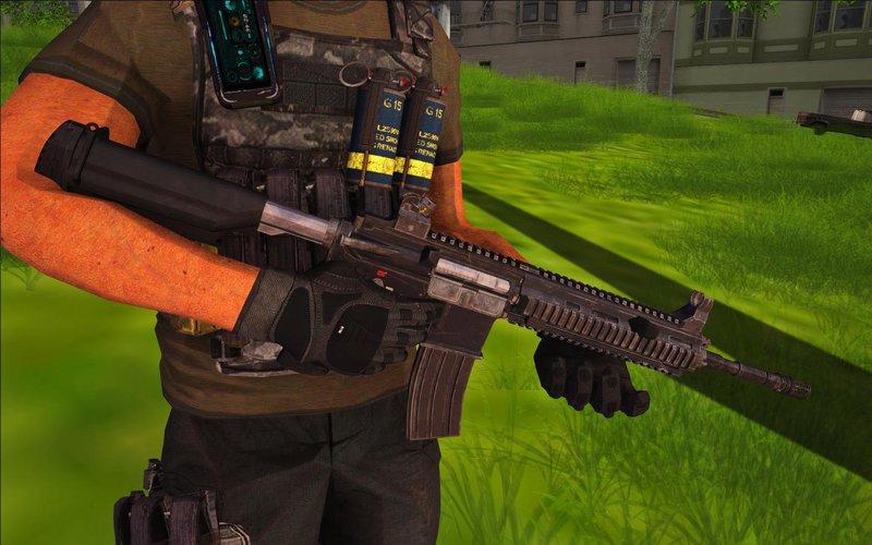 Playerunknown S Battlegrounds Weapons: GTA San Andreas PUBG HK416 (PLAYERUNKNOWN'S BATTLEGROUNDS