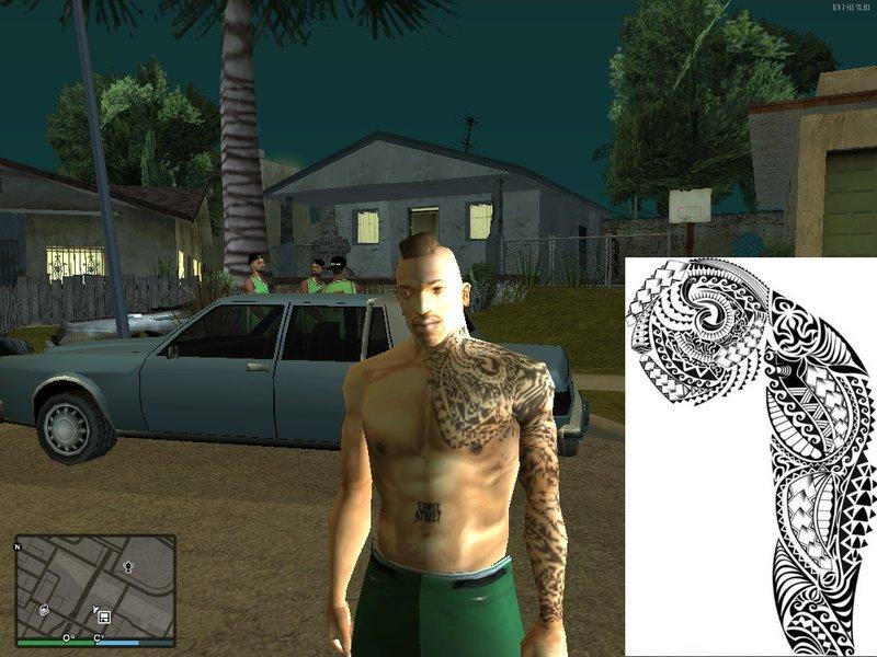 Tatuaje Maori Brazo gta san andreas tatuaje maori brazo izquierdo mod - gtainside
