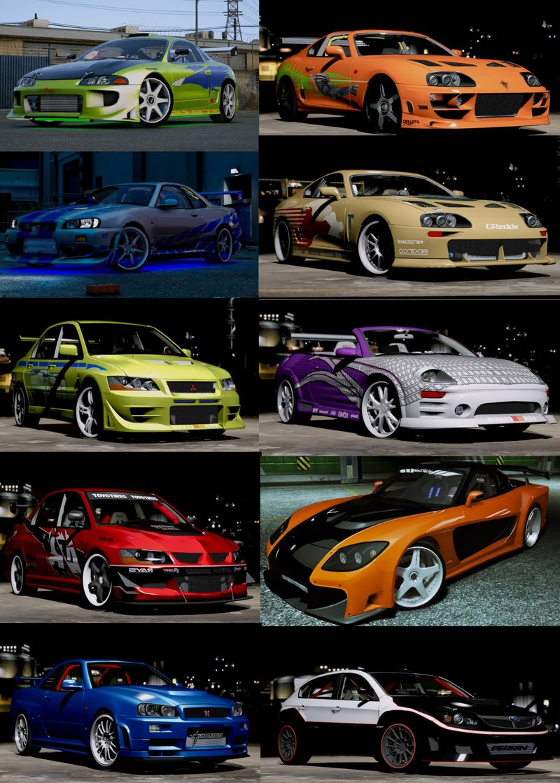 All Fast And Furious Cars >> Gta 5 The Fast And The Furious Cars Pack Hq Add On Animated