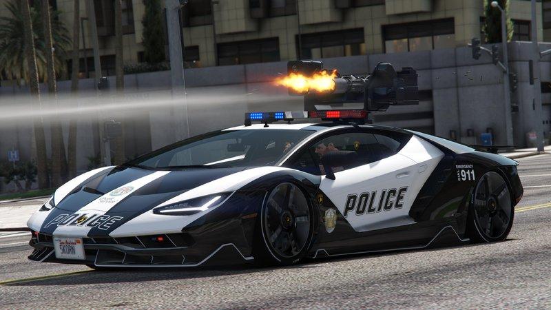 Gta 5 Lamborghini Centenario Lp770 4 Remastered Police Lspd Mod