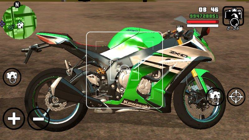 GTA San Andreas Kawasaki Ninja ZX 10R for Andoroid (no Needed Pc