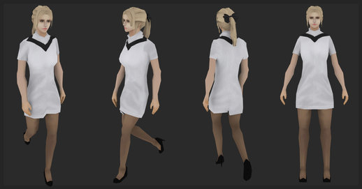 Female Sweater One Piece (Low poly ver)