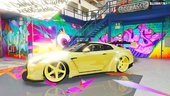 2014 Nissan GTR R-35 Liberty Walk Gold Edition (Replace)