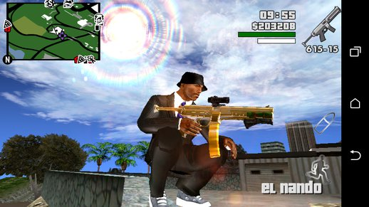 GTA V CombatPDW Only dff for Android