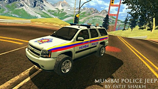 Mumbai Police Jeep (Indian Police Car)
