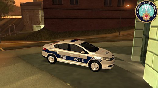 Renault Fluence Turkish Police Car
