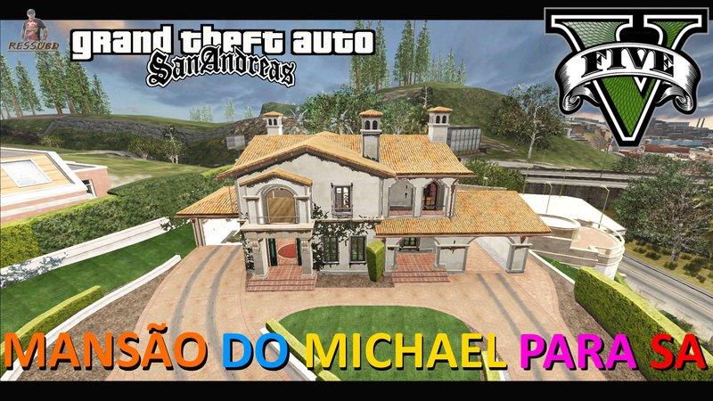 GTA San Andreas Mansão do Michael de GTA V Mansion Mod