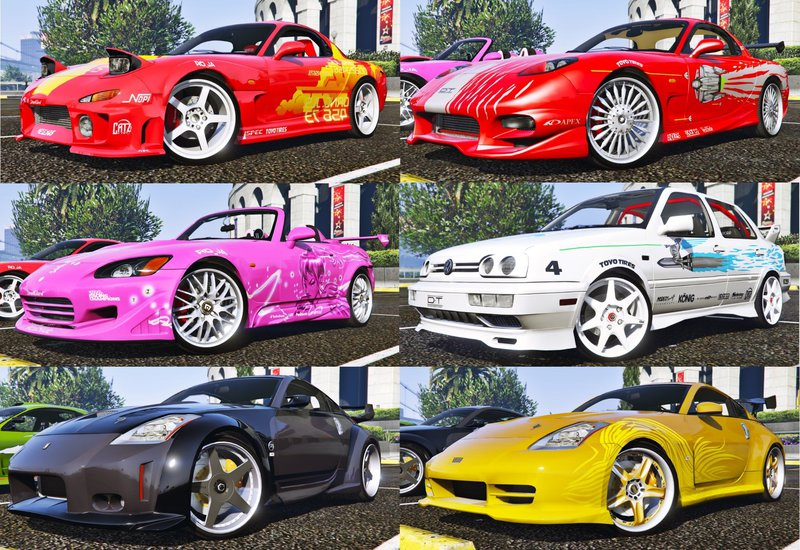 Gta 5 The Fast And The Furious Cars Pack 2 Hq Add On Animated Mod