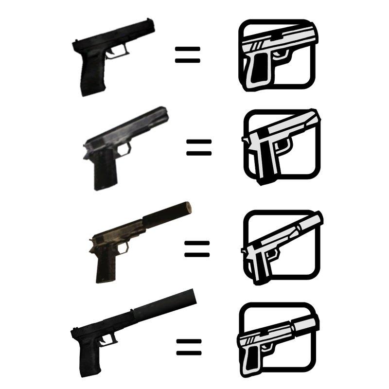 GTA San Andreas Alternative Weapon Icons (colt45 Icon