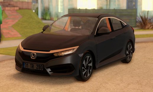 Honda Civic FC5 [Low Poly]