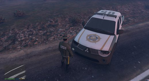 Mitsubishi L200 - LSSD (Lore Friendly) Police Car