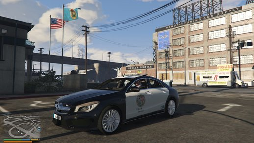 Mercedes CLA45 AMG sedan LSPD (Lore Friendly) Police Car