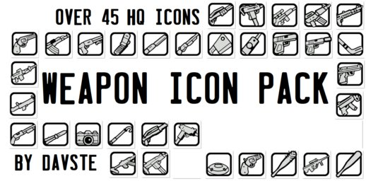 45 HQ Weapon Icons V4