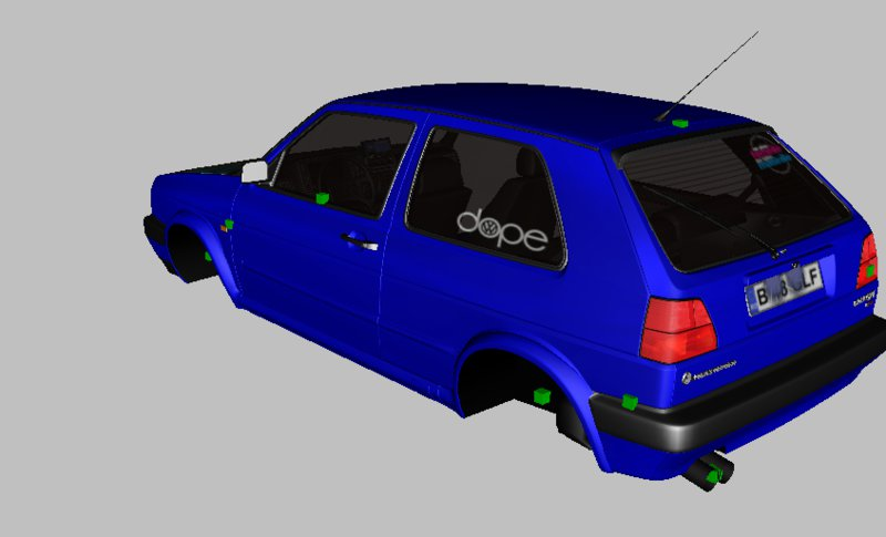 GTA San Andreas VW Golf 2 HellaFlush Mod - GTAinside com