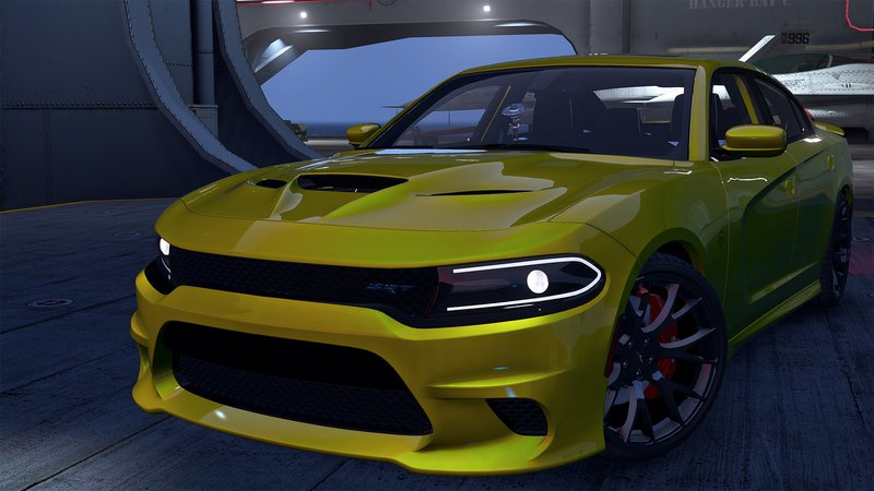 charger hellcat dodge srt gta template animated gta5 replace mods analog dials digital vehicles v1 mod gtainside