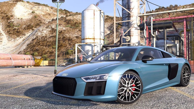 GTA 5 Audi R8 V10 Plus 2017 [Add-On / Replace | Animated