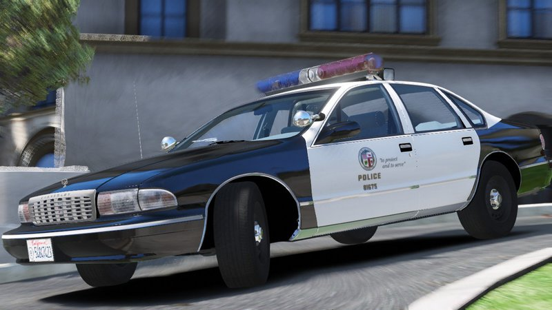 GTA 5 [ELS] 1995 Chevy Caprice 9C1- Los Angeles Police Dept  Mod