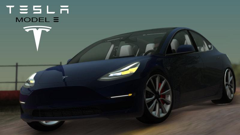 GTA San Andreas 2018 TESLA Model 3 High Quality Mod - GTAinside com