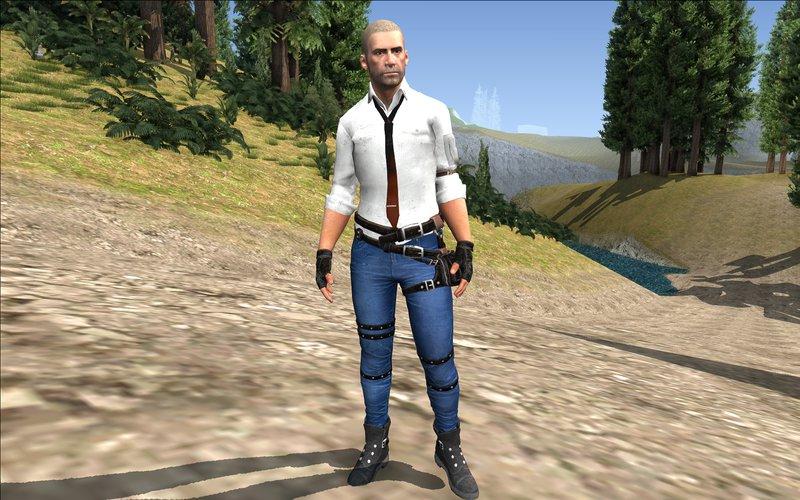 Pubg Character: GTA San Andreas Character Pubg Sin Casco Mod