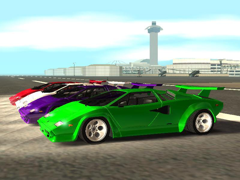 gta san andreas lamborghini countach extra wide wheels mod. Black Bedroom Furniture Sets. Home Design Ideas
