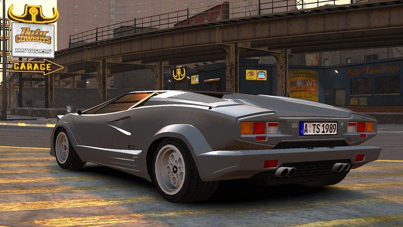 GTA 4 1989 Lamborghini Countach 25th Anniversary v1.1 Mod ...