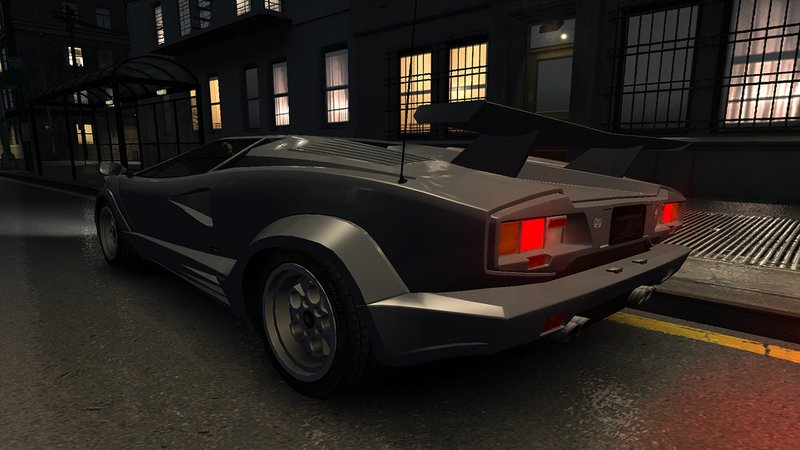 gta 4 1989 lamborghini countach 25th anniversary v1 1 mod. Black Bedroom Furniture Sets. Home Design Ideas
