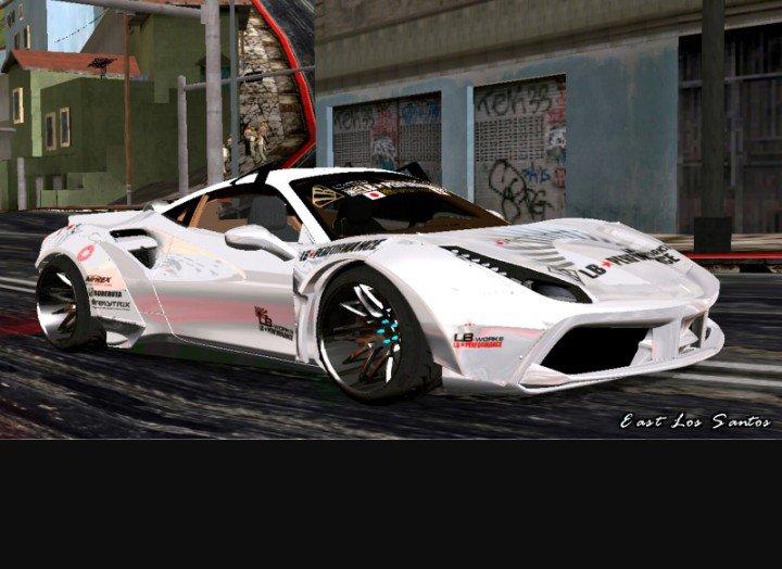 Gta San Andreas Ferrari 488 Liberty Walk Mod Gtainside Com