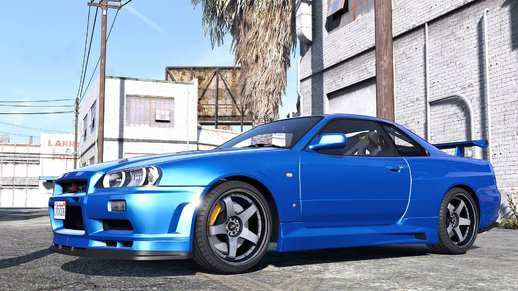 Nissan Skyline GT-R 34 2002 [Add-On / Replace | Animated | Template] v1.0