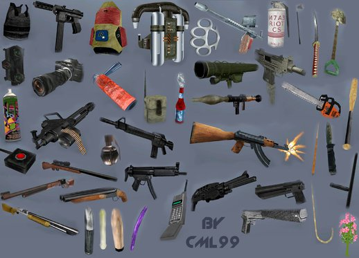 Weapons Retextured and Colored Weapon Icon Pack