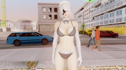 Dead Or Alive 5 LR YoRha 2B Maid Swim Set