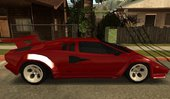 Lamborghini Countach Extra Wide Wheels + 25th's Rear Bumper