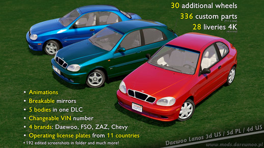 2000 Daewoo Lanos* v1.1 [Add-On/Replace]
