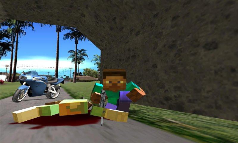 Gta San Andreas Alex X3 Steve X4 Minecraft Mod Gtainside Com