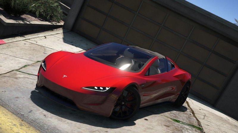 GTA 5 Tesla Roadster 2020 [Add-On / Replace / Auto Spoiler ...