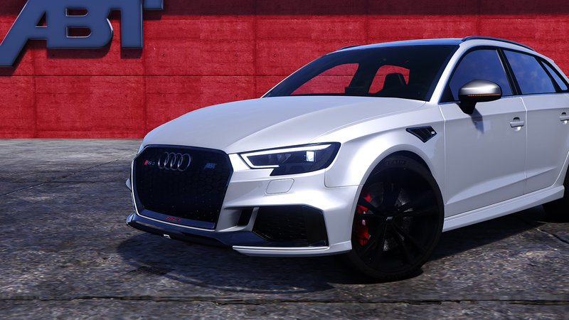 gta 5 audi rs3 sportback 2018 add on tuning abt mod