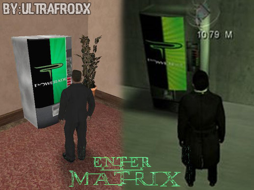 Powerade Vending Machine Skin [Enter The Matrix] By UltraFrodX