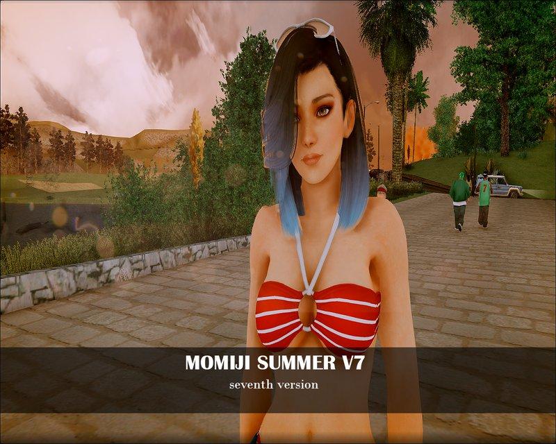 Skin Momiji Gta Sa: GTA San Andreas Momiji Summer V7 Mod