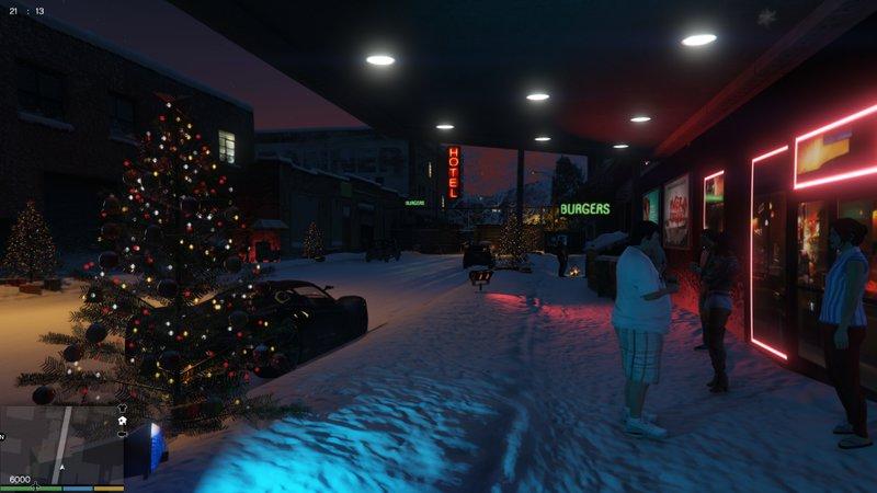 Gta 5 Christmas.Gta 5 Christmas In North Yankton V1 1 Mod Gtainside Com