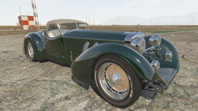 Gta 5 mercedes benz ss roadster 1930 mod for Mercedes benz ss