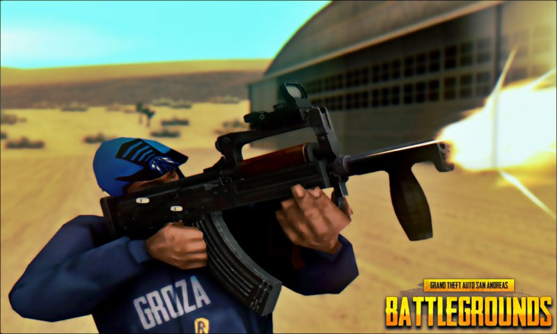 Gta San Andreas Playerunknown S Battleground Ots 14 Groza Mod