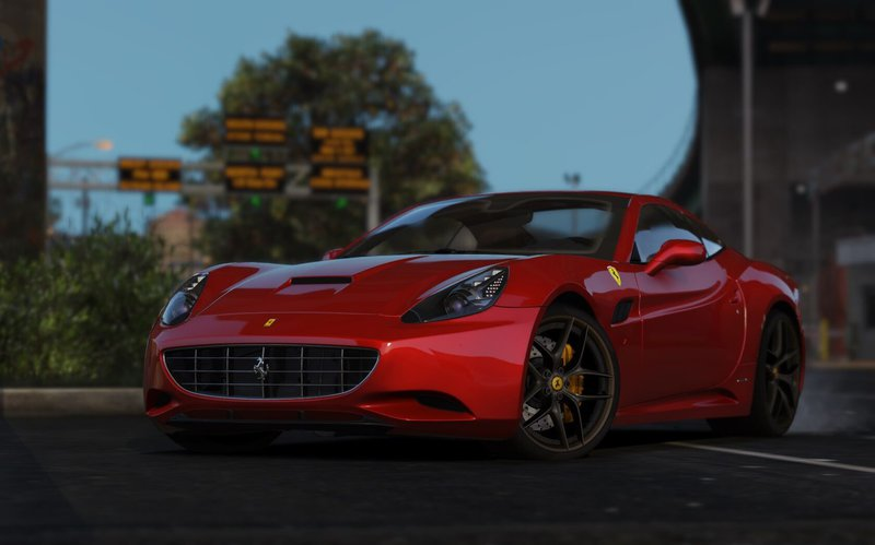 Gta 5 2013 Ferrari California Automatic Convertible Mod