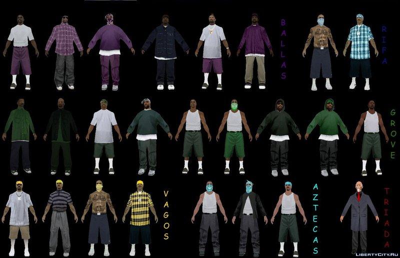GTA San Andreas Beta Gang Skins Added Mod - GTAinside com