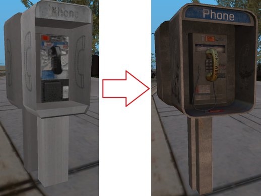 Public Telephone #1 - HD Model (Normal Map)