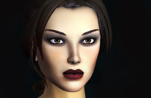 Lara Croft aka Trout Mouth from Tombraider