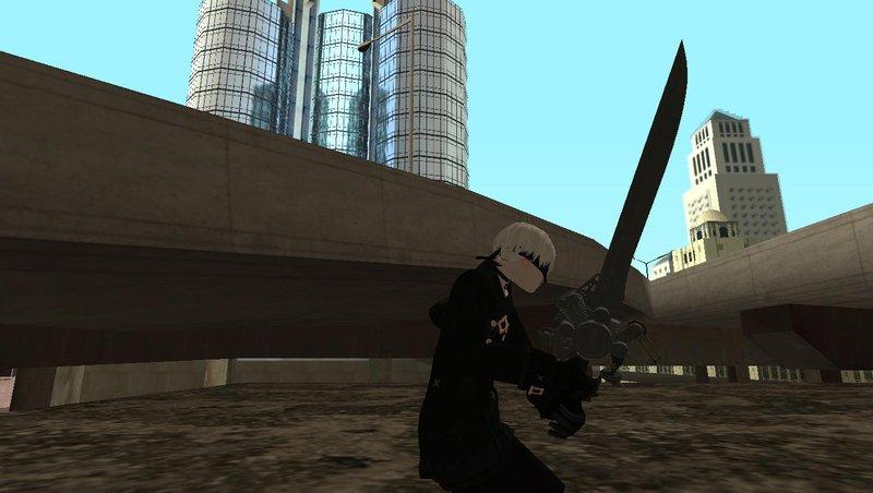 GTA San Andreas Final Fantasy XV/Nier Automata Engine Blade v1 Mod