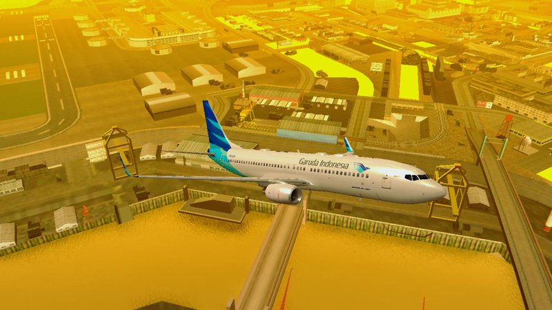 GTA San Andreas Garuda Indonesia Boeing 737-800 Mod - GTAinside com
